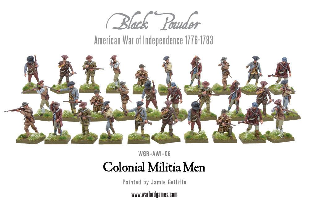 Colonial Militia Men (Plastic Box)