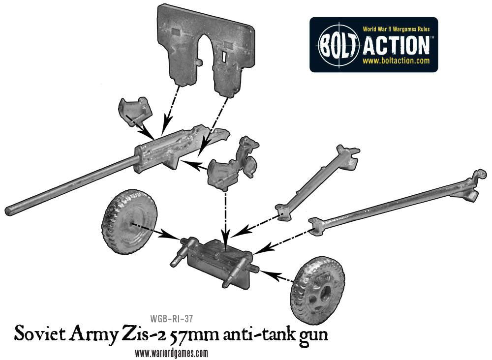 Soviet Army Zis-2 57mm anti-tank gun