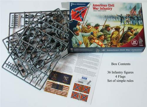 American Civil War: Infantry (1861-1865) plastic boxed set