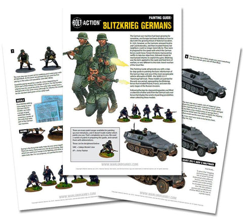 Blitzkrieg German painting guide - digital download