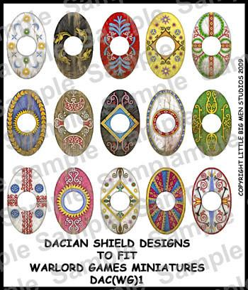 Dacians shield designs 1