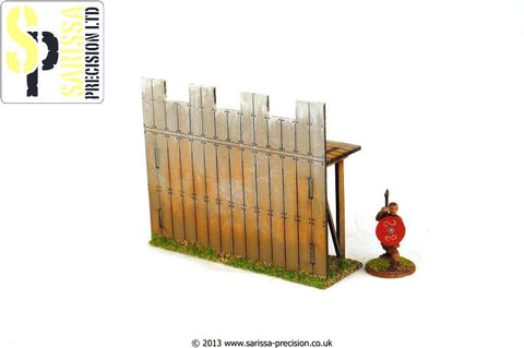 Wooden Palisade Wall - Straight