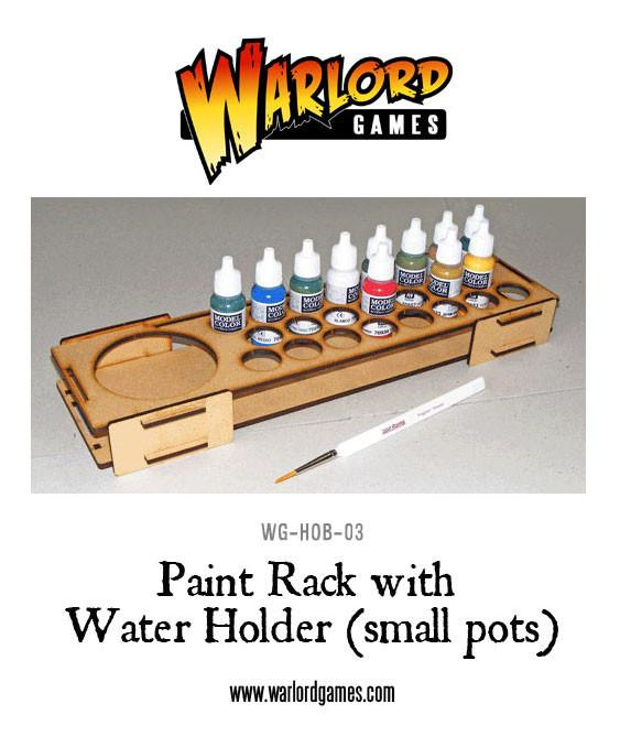 Paint Rack with Water Holder - Small Pots