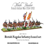 French Indian War 1754-1763: British Regular Infantry boxed set