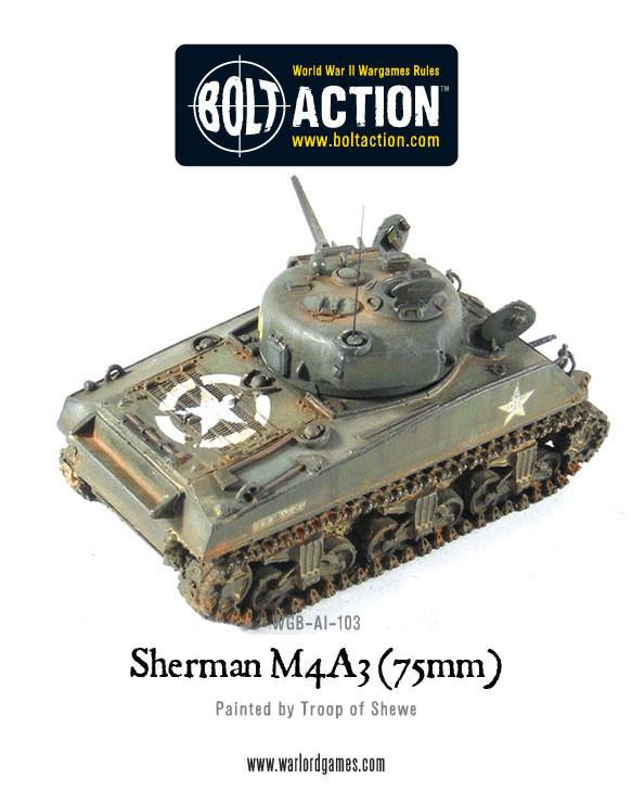 Sherman M4A3 75mm Tank