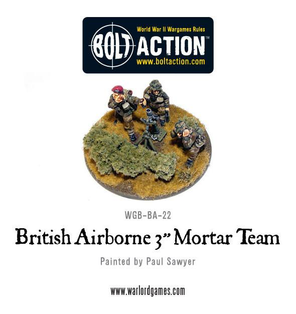 "British Airborne 3"" Medium Mortar Team"