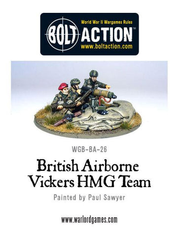 British Airborne Vickers MMG Team