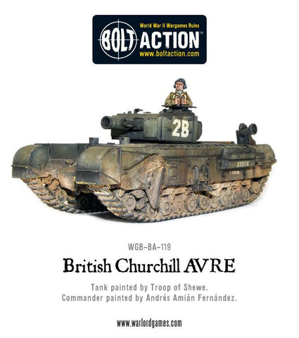 British Churchill AVRE