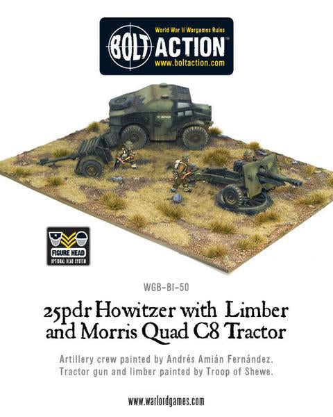 Quad C8 Tractor and British 25 pdr Howitzer & Limber