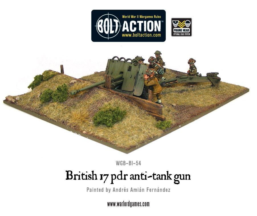 British Army 17 pdr anti-tank gun