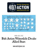 Bolt Action Allied Stars decal sheet