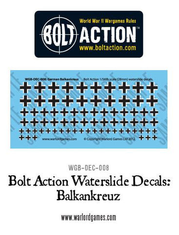Bolt Action German Balkenkreuz decal sheet