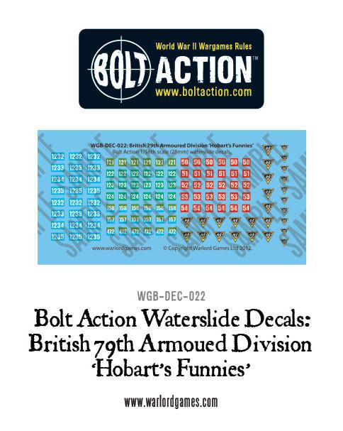 British 79th Armoured Division (Hobart's Funnies) decal sheet