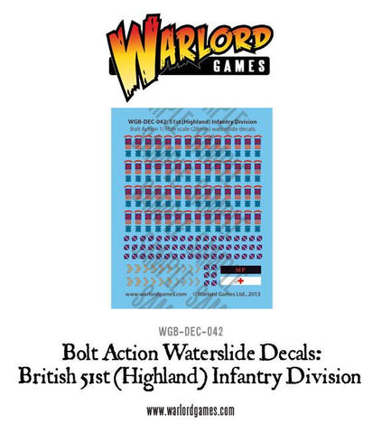 British 51st (Highland) Infantry Division decal sheet