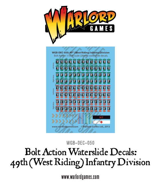 British 49th (West Riding) Infantry Division decal sheet