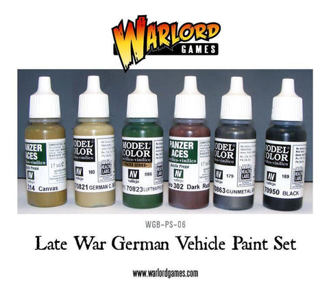 Late War German Vehicle Paint Set