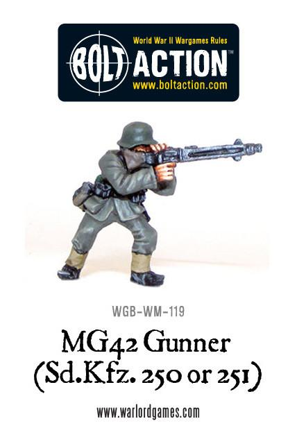 MG42 Gunner (Sd.Kfz 250 or 251)