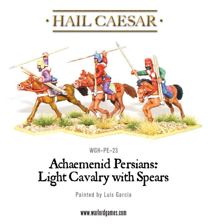 Persian light cavalry with spears