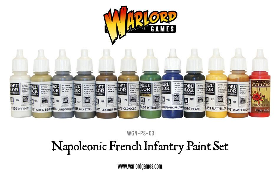 Napoleonic French Infantry paint set