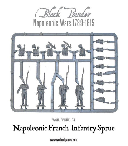 Napoleonic War French Line Infantry sprue