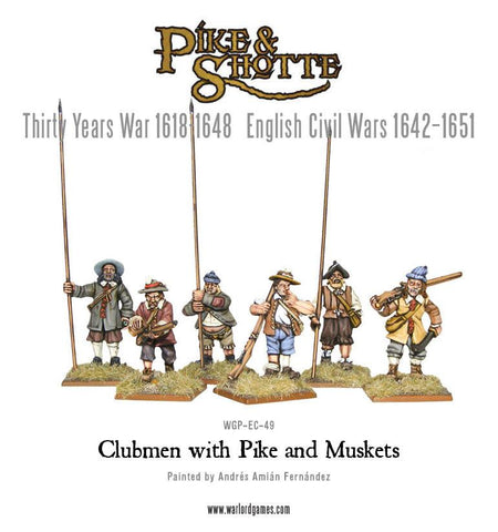 Clubmen with Pike and Muskets
