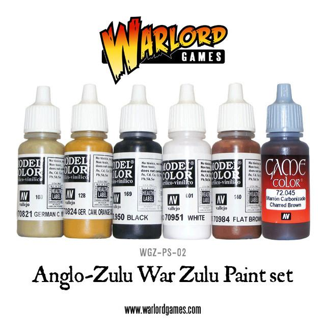 Anglo-Zulu War: Zulus Paint Set