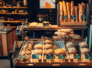 Bakery Display of Baked Goods