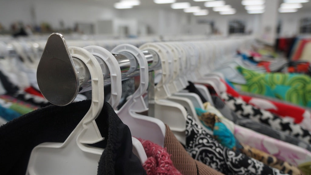 Clothing At A Thrift Store