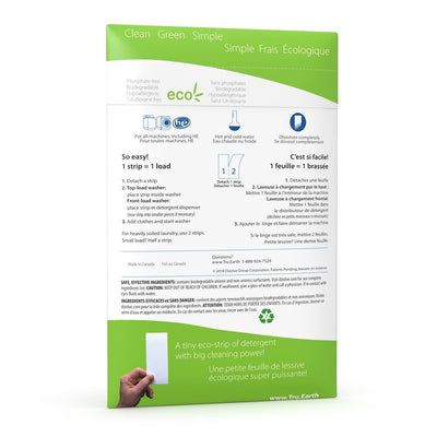 Tru Earth- Eco-Strips: Fragrance Free_back of package