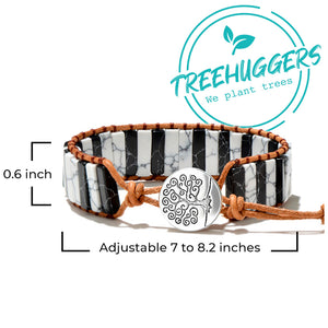 Treehuggers™ Amur Leopard Natural Stone: Plant a tree with every bracelet 🌲
