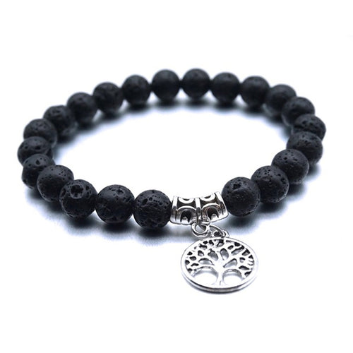 Treehuggers Original Lava Stone Charm: Plant a tree with every bracelet 🌲