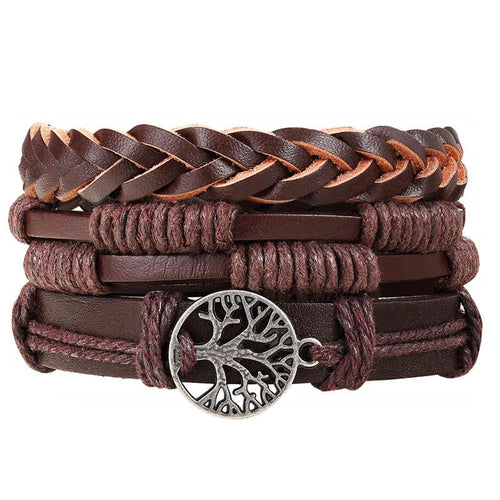 Treehuggers Handmade Recycled Leather 3Pc: Plant a tree with every bracelet 🌲