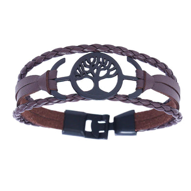 Treehuggers Recycled Leather Signature Charm: Plant a tree with every bracelet 🌲
