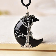 Load image into Gallery viewer, Tree Of Life Crescent Necklace