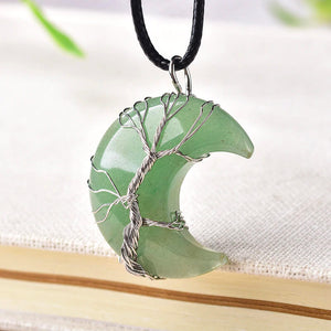 Tree Of Life Crescent Necklace