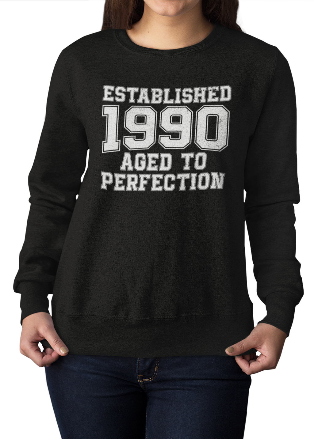 "Damen Sweatshirt Established ""Wunschjahr"" Aged To Perfection"
