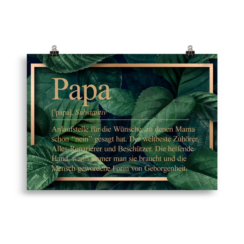 Papa Definition Poster Dschungel