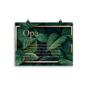 Opa Definition Poster Dschungel - Paparadies