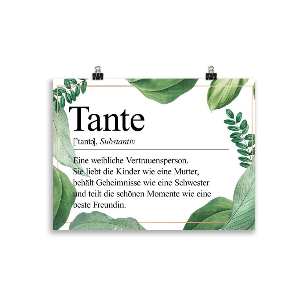 Tante Definition Poster Blätter