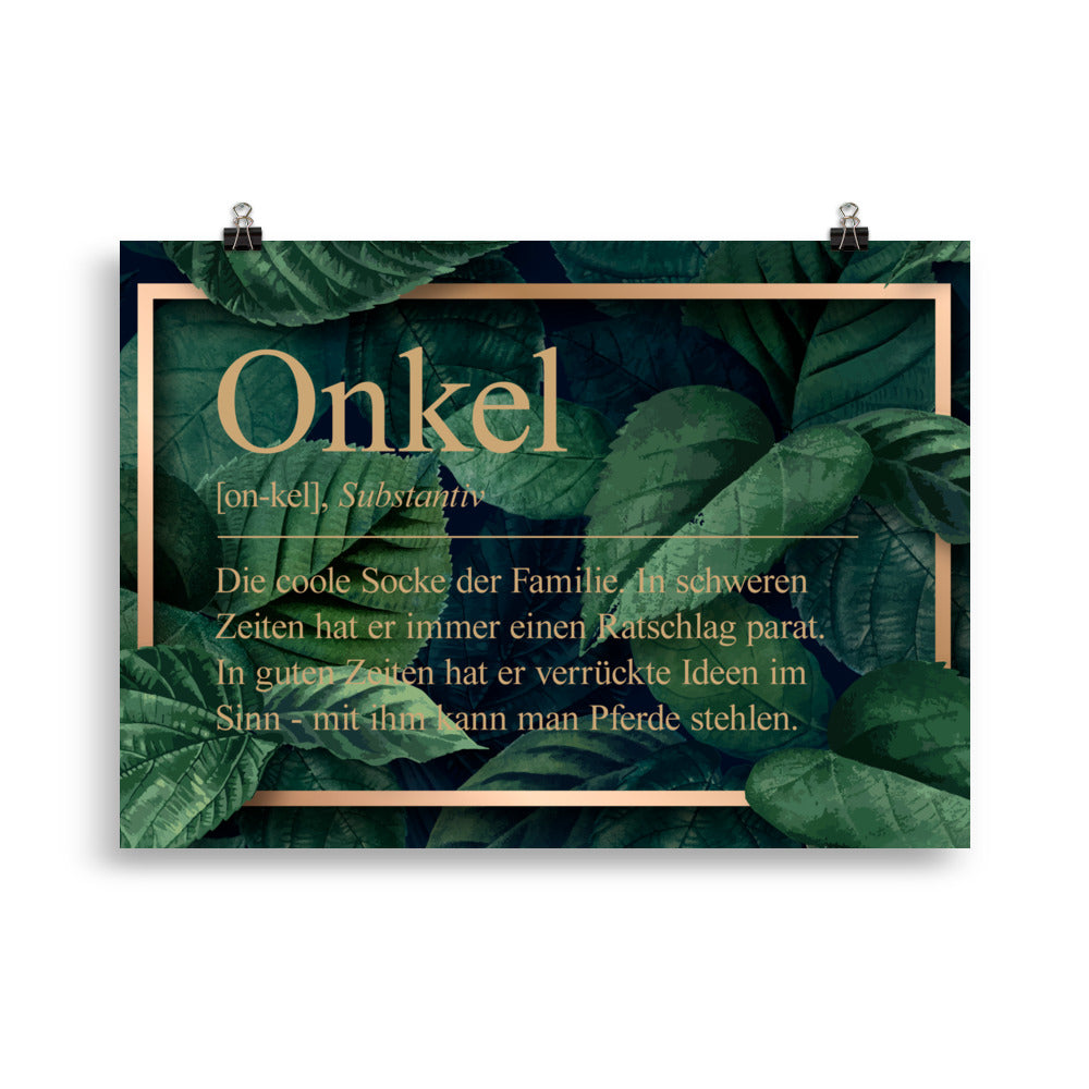 Onkel Definition Poster Dschungel - Paparadies