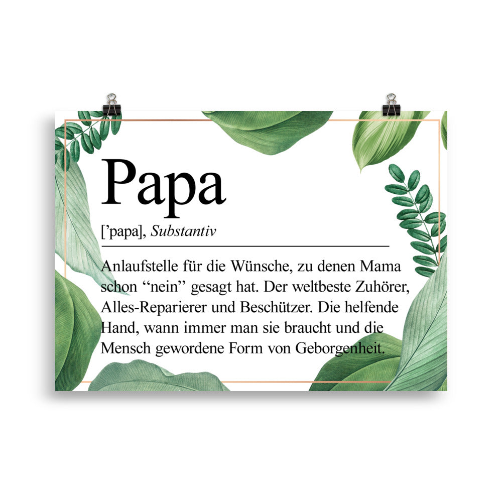 Papa Definition Poster Blätter