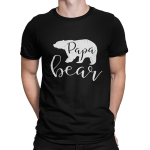 Papa Bear Distressed Herren T-Shirt