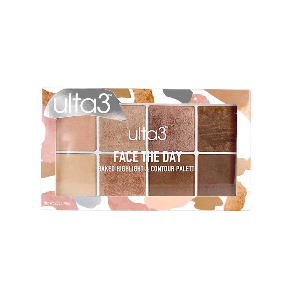Face The Day - Baked Highlight & Contour Palette
