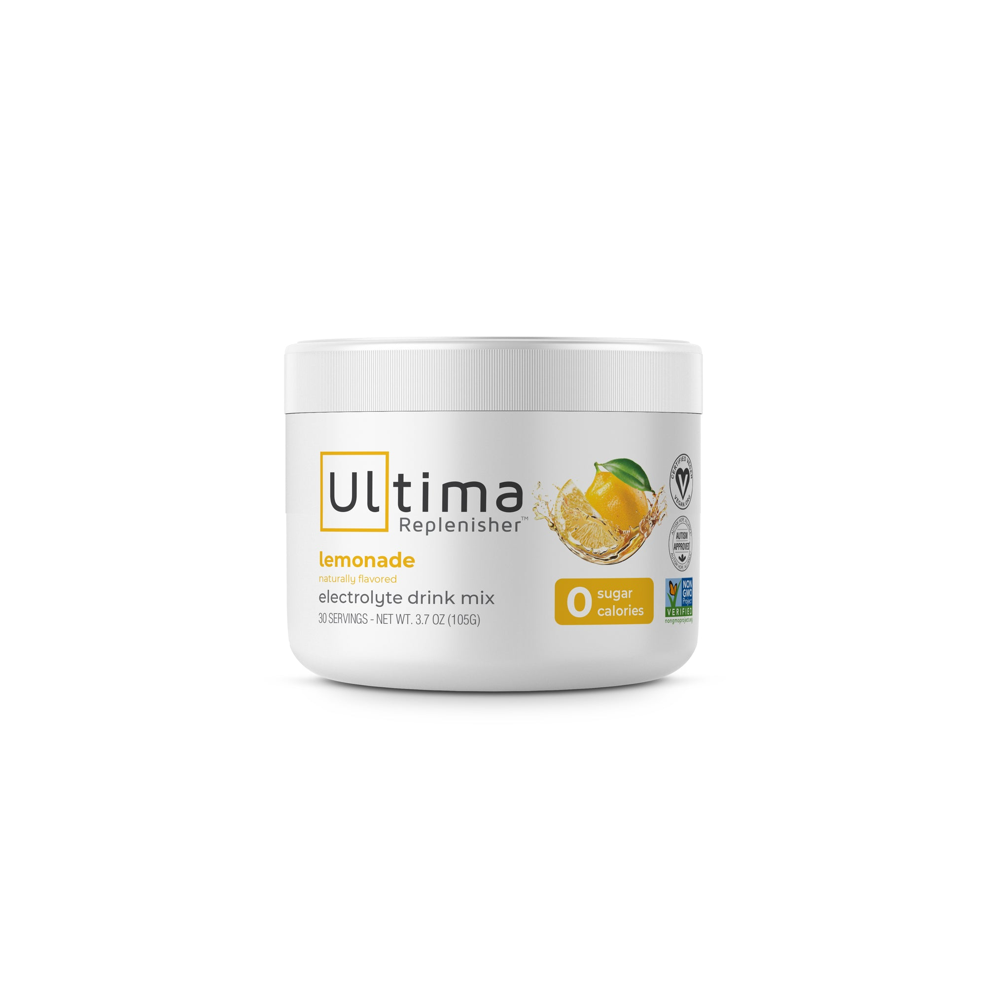 Ultima Replenisher Electrolyte Hudration Powder 30 Serving Canister Lemonade Flavor