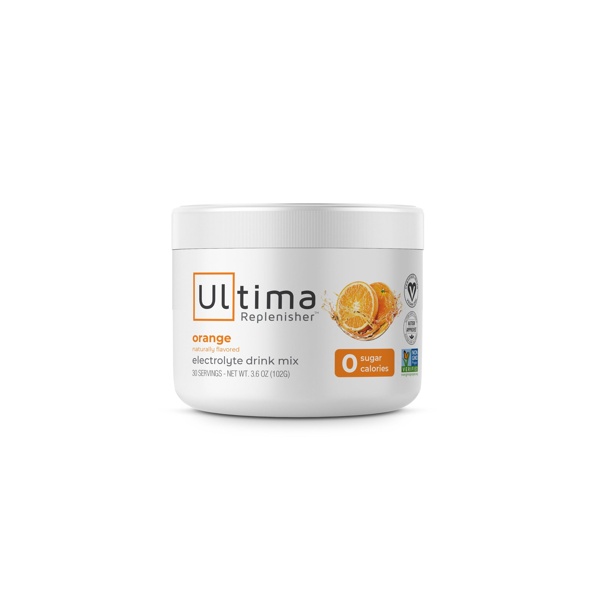 Ultima Replenisher Electrolyte Hudration Powder 30 Serving Canister Orange Flavor