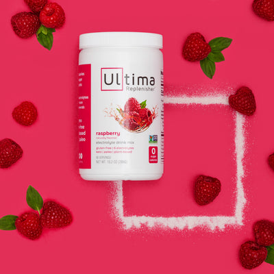 Ultima Replenisher Electrolyte Hydration Powder 90 Serving Canister Raspberry