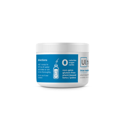 Ultima Replenisher Electrolyte Hydration Powder 30 Serving Canister Blue Raspberry