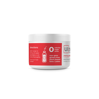 Ultima Replenisher Electrolyte Hydration Powder 30 Serving Canister Cherry Pomegranate