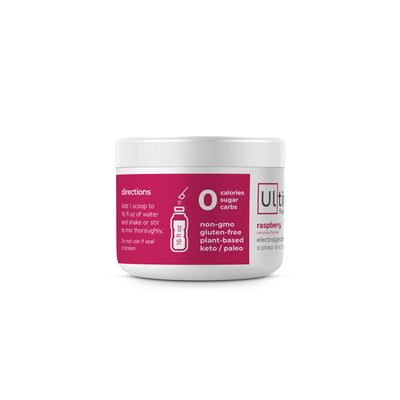 Ultima Replenisher Electrolyte Hydration Powder 30 Serving Canister Raspberry