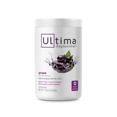 Ultima Replenisher Electrolyte Hydration Powder 90 Serving Canister Grape